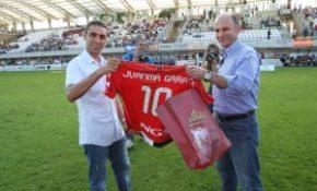 Irun. Triangular entre Real Union, Real Sociedad y Osasuna.F. de la Hera